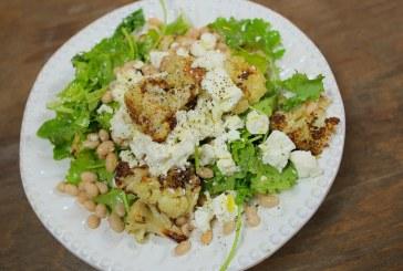 Téli saláta - Sült karfiol & fehérbab saláta