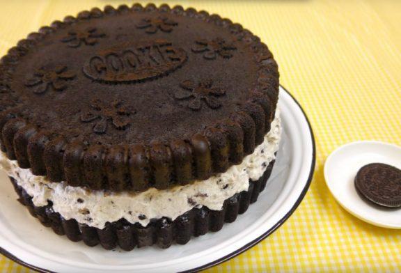 Sütés nélküli Oreo keksz Torta