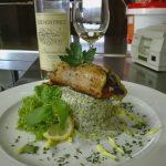 Grillezett zöldségekkel göngyölt harcsafilé, recept