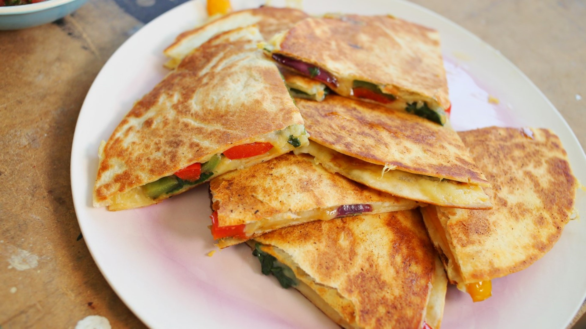 zöldséges quesadilla
