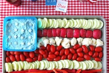 Partyra: amerikai zászló zöldségek és Dip-ből ...