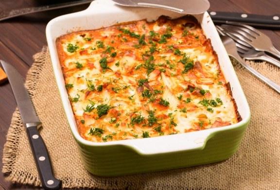 Tejfölös rakott zöldbab dupla sajttal, recept