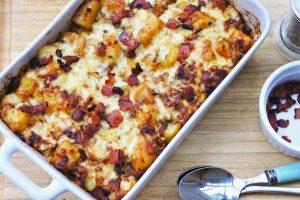 Baconös tepsis krumpli