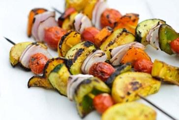 Zöldségnyárs grillhez, recept