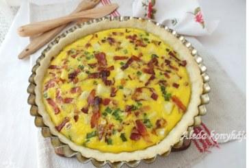 Juhsajtos szalonnás pite, recept