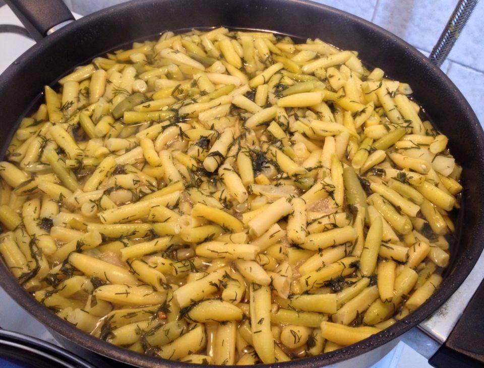 Kapros zsenge zöldbab főzelék