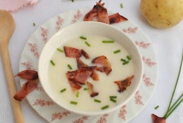 Újkrumpli krémleves sonkával, recept