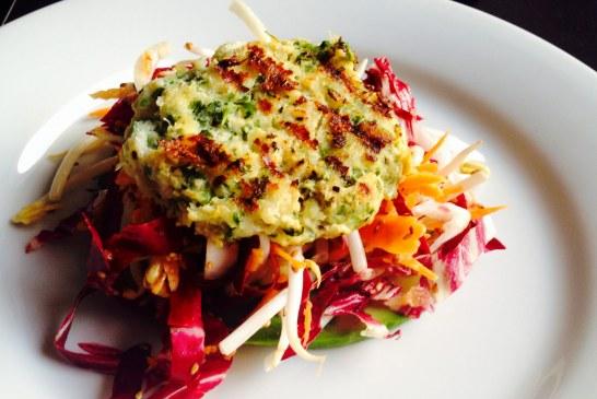 Friss Zöldkorianderes Tőkehalpogácsa, keleti salátával - recept