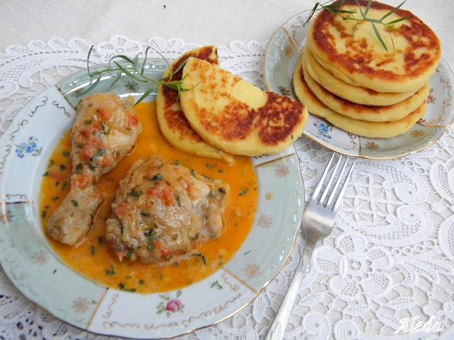 Kolozsvári csirke burgonya lángossal