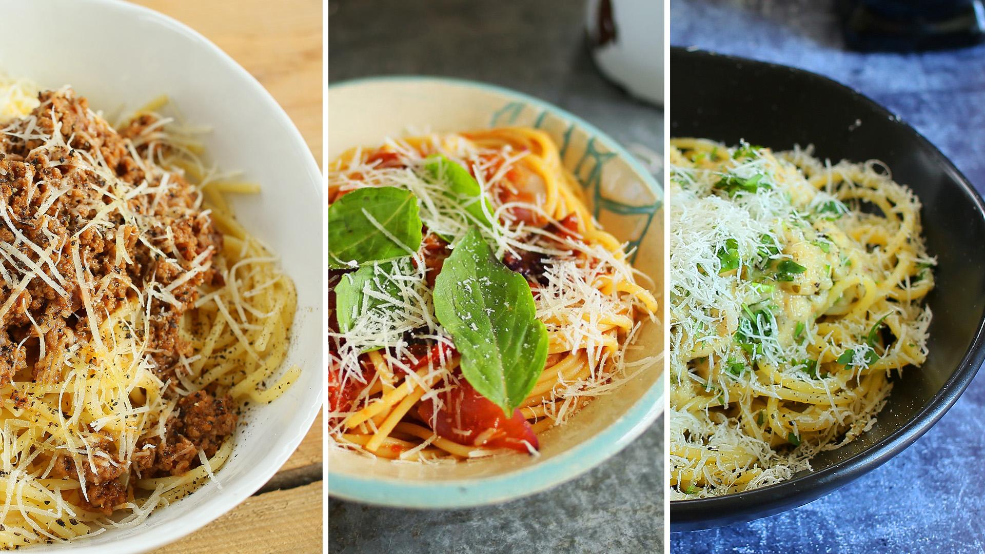 3 spagetti recept egy postban