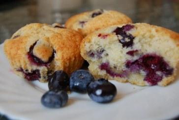 Áfonyás muffin, recept
