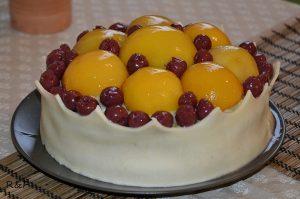 Királyi barackos torta