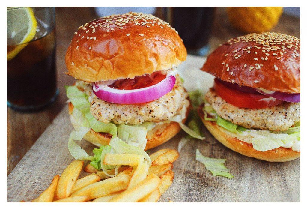 Csirkemell burger