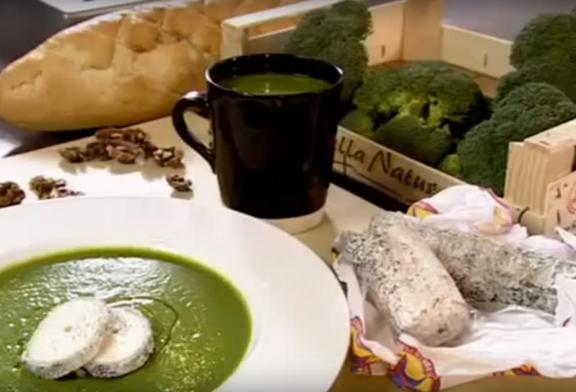 Gordon Ramsay – Brokkoli krémleves friss kecskesajttal, recept és videó