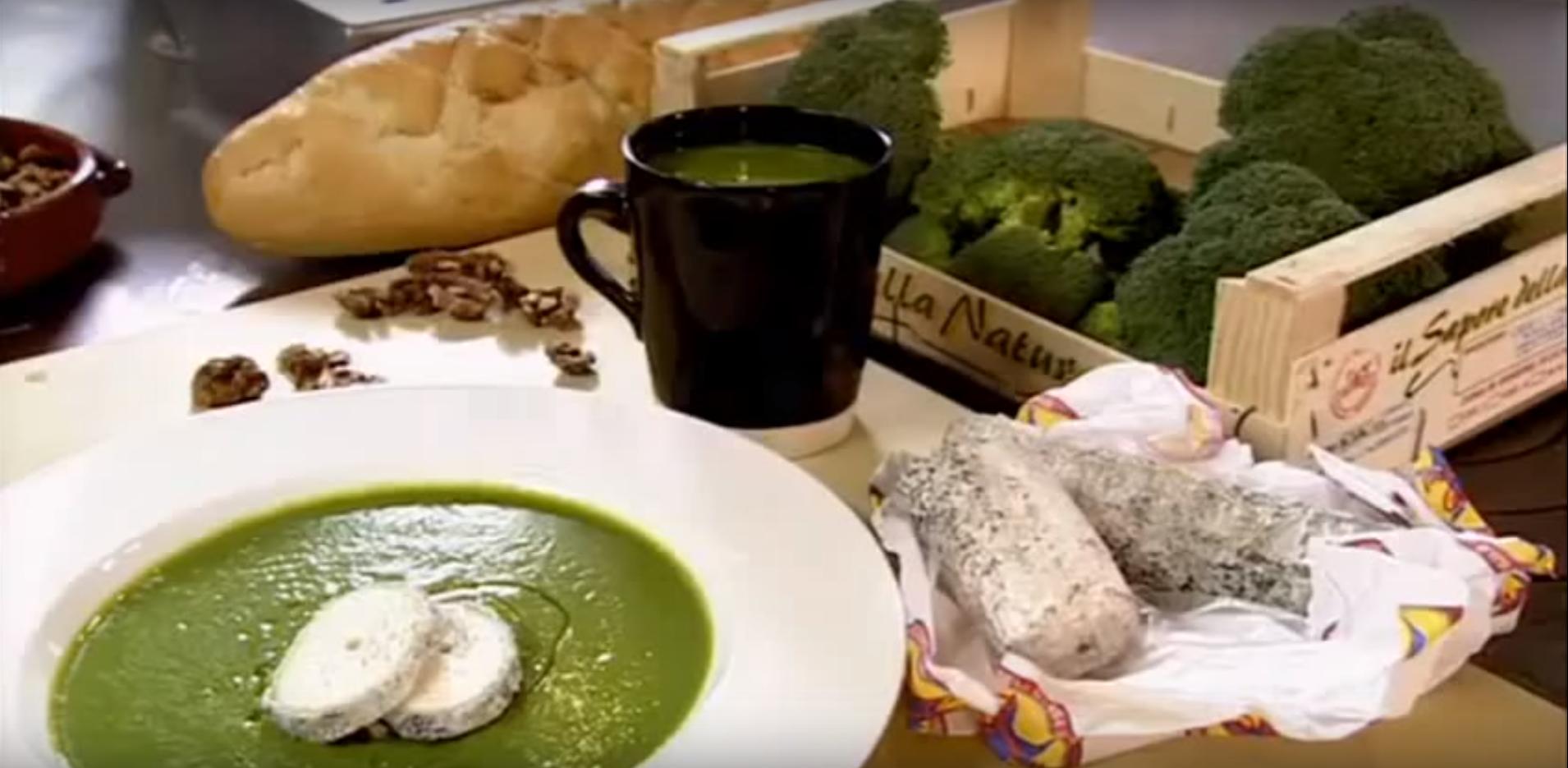 Gordon Ramsay - Brokkoli krémleves friss kecskesajttal