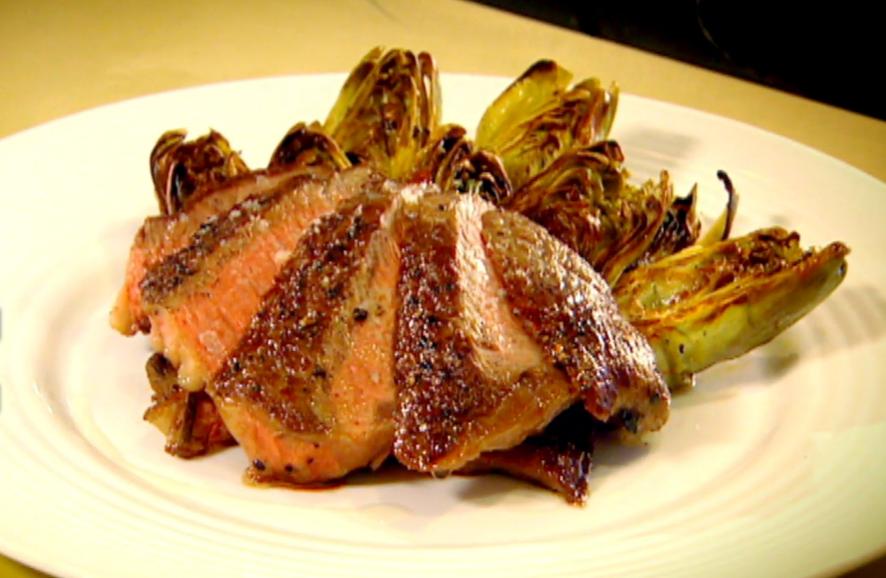 Gordon Ramsay - Rib eye (rostélyos) steak grillezett articsókával