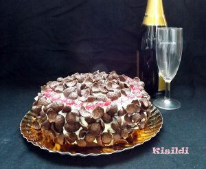 Gluténmentes Csokoládétorta mandulás piskótával