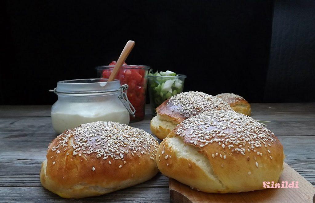 HamBurgerzsemle angol muffin tésztából