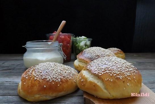 HamBurgerzsemle angol muffin tésztából, recept
