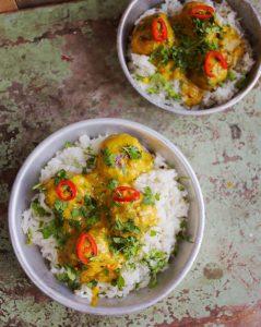 Indiai fűszeres húsgolyók