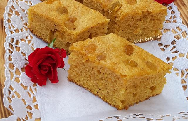 Mazsolás édesburgonyás sütemény