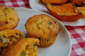 Sütőtökös muffin tökmaggal