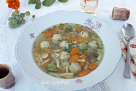 Zöldségleves pulykahúsgombóccal, recept
