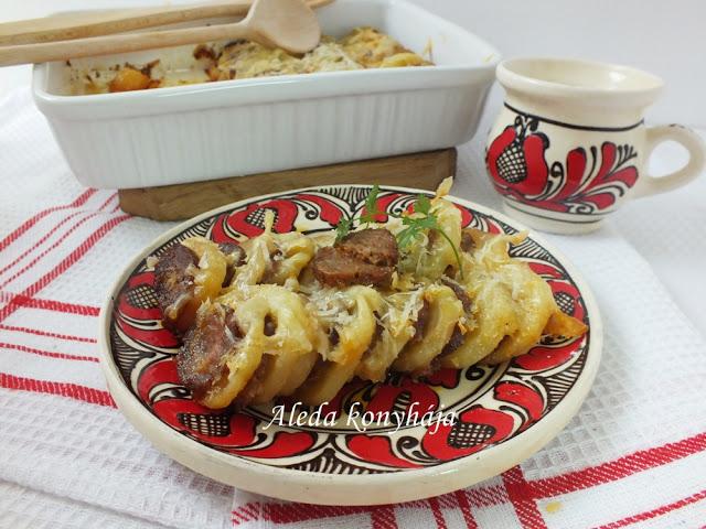 Parasztos rakott krumpli