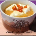 Almás sütőtök leves, recept
