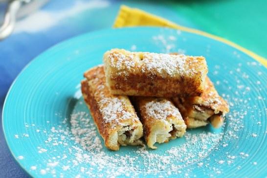 Banános french toast rolls, recept