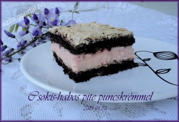 Csokis-habos pite puncskrémmel, recept