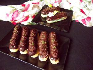 Csokoládéhabos babapiskótaszelet