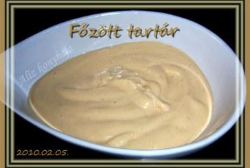 Főzött tartár mártás, recept