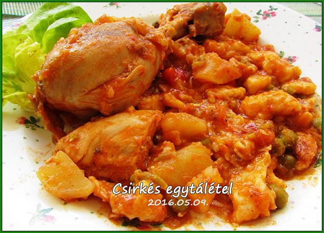 Izgalmas Csirkés egytál-étel