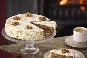 Karácsonyi diós lekváros torta, recept