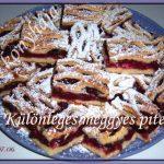 Különleges meggyes pite, recept