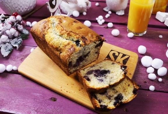 Ráérős reggeli: áfonyás muffinkenyér, recept