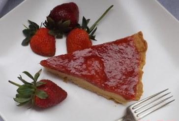 Vaníliakrémes epres-rebarbarás pite, recept