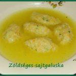 Zöldséges sajtgaluska (levesbetét), recept