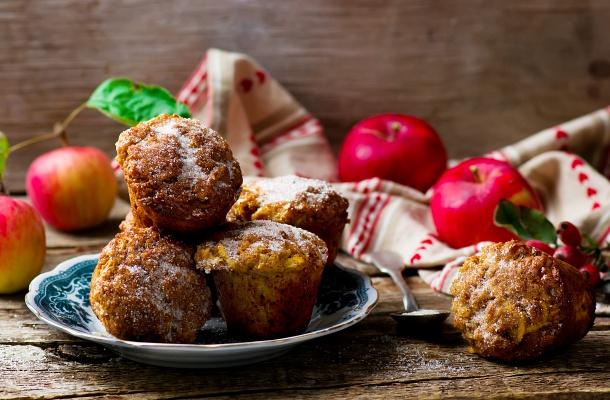 Almás zabpelyhes muffin