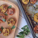 Sült batáta és sajtos paradicsom, recept
