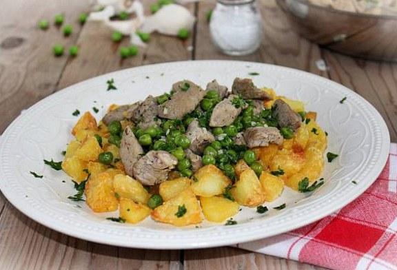 Különleges brassói aprópecsenye zöldborsóval, recept