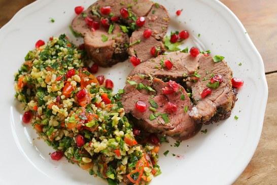 Zöldfűszeres báránycomb tabuléval - recept