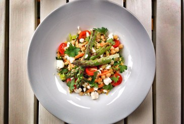 Csicseriborsós, köleses saláta, recept