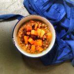 Narancsos, sütőtökös, datolyás lencsefőzelék, recept