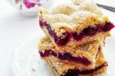 Cseresznyés-mogyorós pite, recept