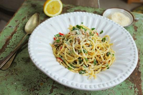 Chilis Tonhalas spagetti, recept