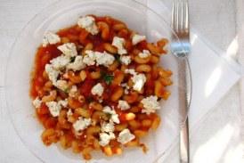 Kecskesajtos paradicsomos tészta, recept