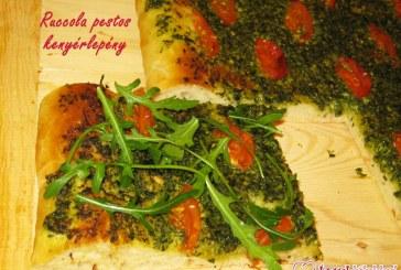Focaccia – Ruccola pestos kenyérlepény, recept
