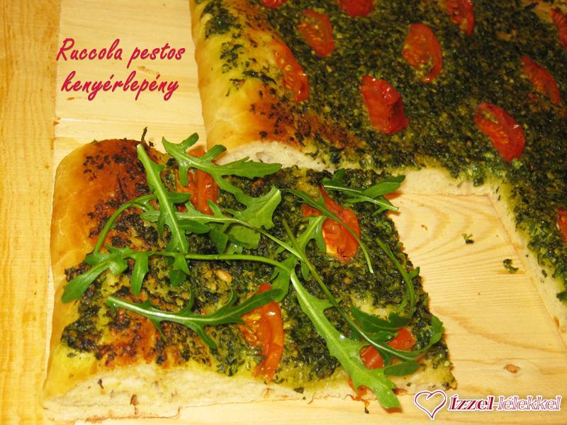 Focaccia - Ruccola pestos kenyérlepény